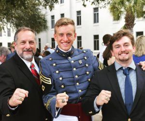 Will pictured with father and older brother, all members of The Order.